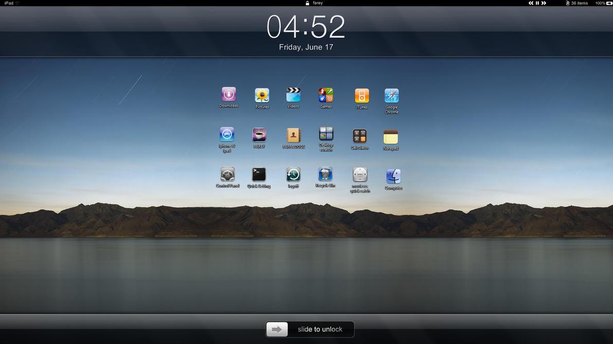 ipad 1 windows 7 desktop by farey07