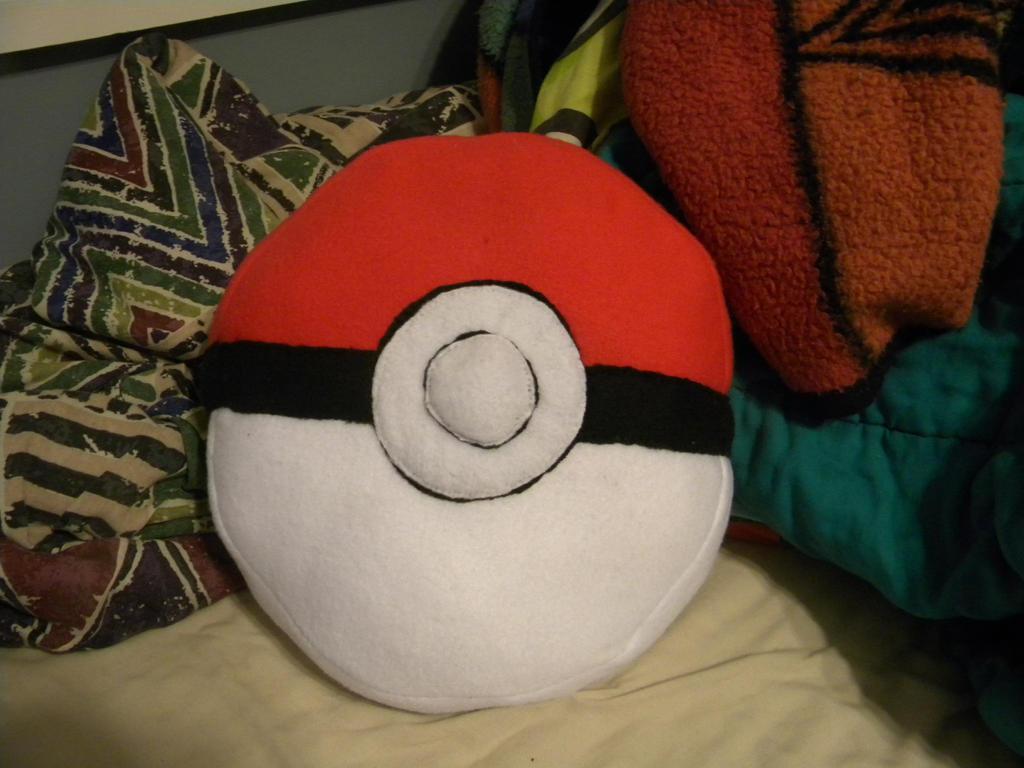 Pokeball Pillow by EternalLove56