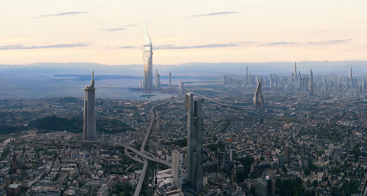 City Matte Painting by Pipera