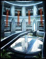 Futuristic Library by gregmks