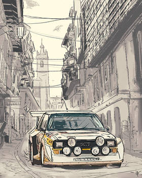 Audi Quattro Sketch