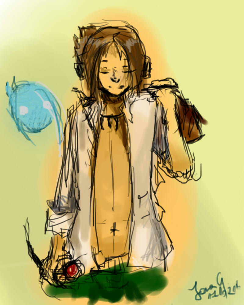 Yoh Asakura (Shaman King) sketch/wip by patamata