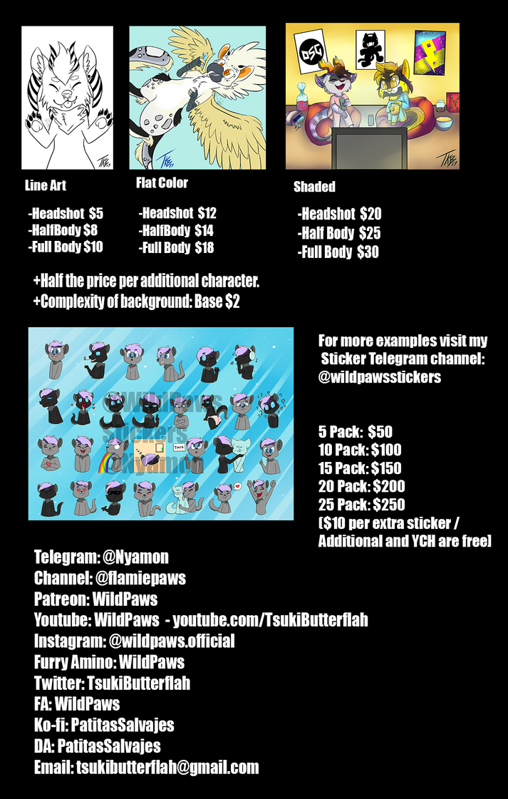Commission Prices 2018 by PatitasSalvajes