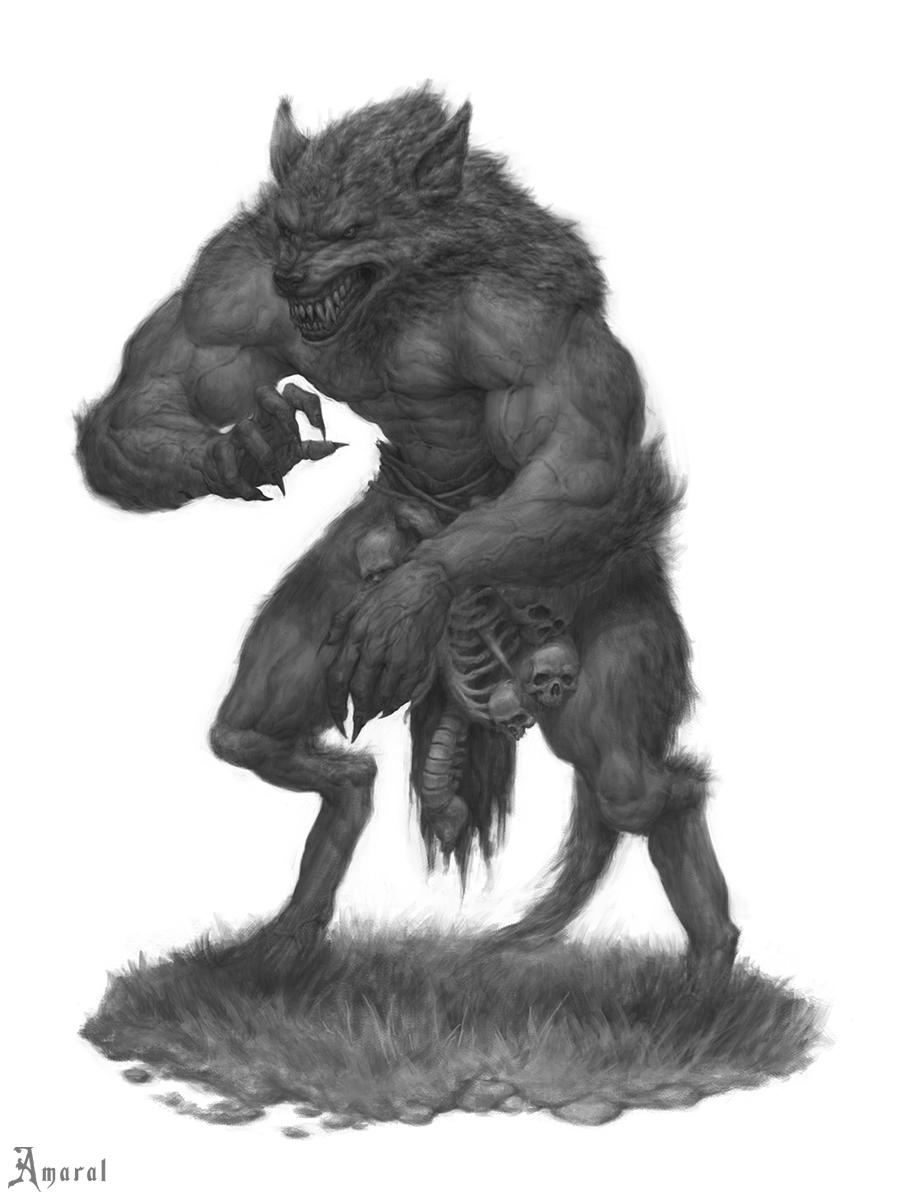 Werewolf by CarlosAmaralArt