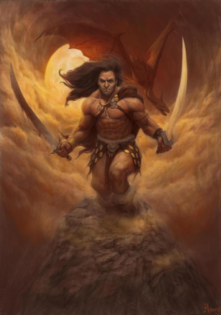 Barbarian by CarlosAmaralArt