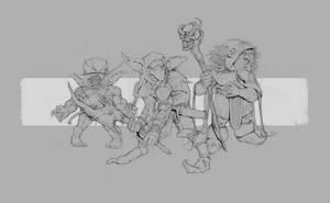 Goblin guys by CarlosAmaralArt