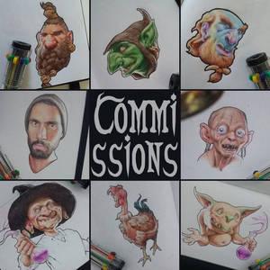 Original Ballpoint pen Commissions + FREE PRINT