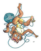 Catgirl and Yarn