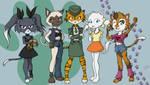 Kitty Squad by RisingDragonArt