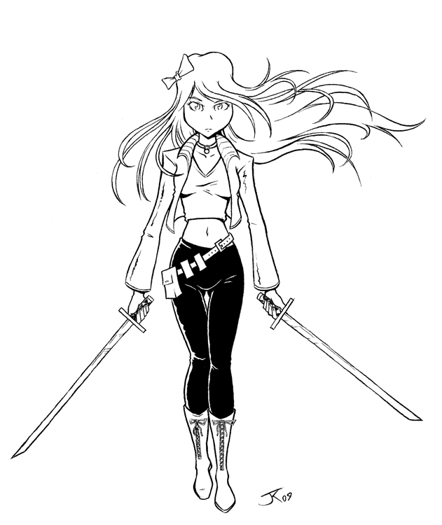 The gallery for --> Anime Girl With Sword Base