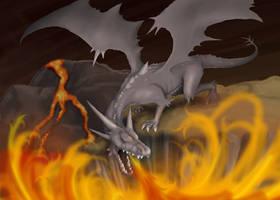 Volcano Dragon by RisingDragonArt