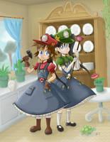 Mario Sisters by RisingDragonArt