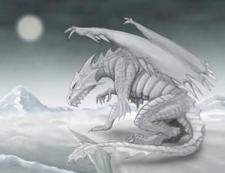 White Dragon by RisingDragonArt