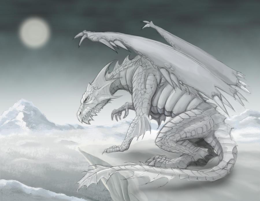Dnd White Dragon: White Dragon By RisingDragonArt On DeviantArt