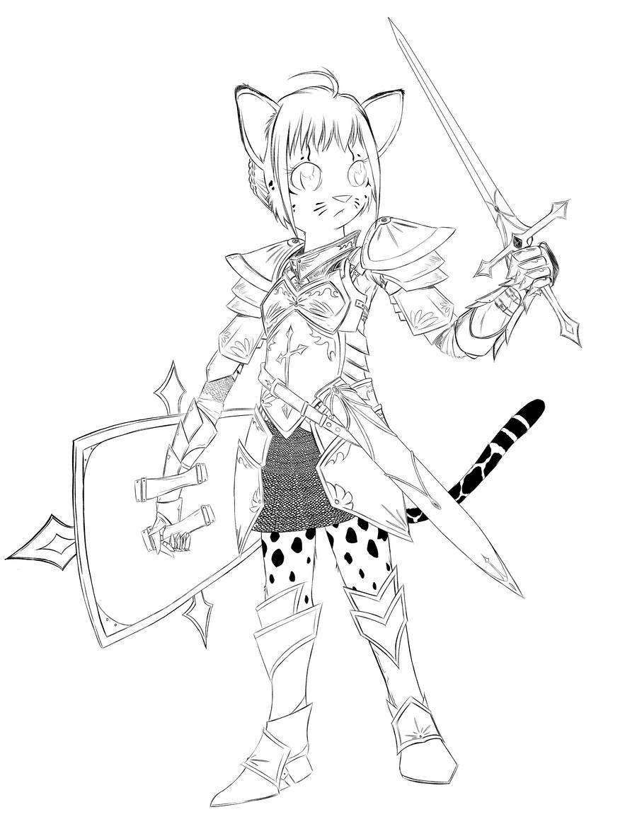 Ocelot Knight by RisingDragonArt