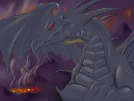 Sventar, the Dark Dragon by RisingDragonArt