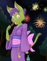 Midori: Festival Night by RisingDragonArt