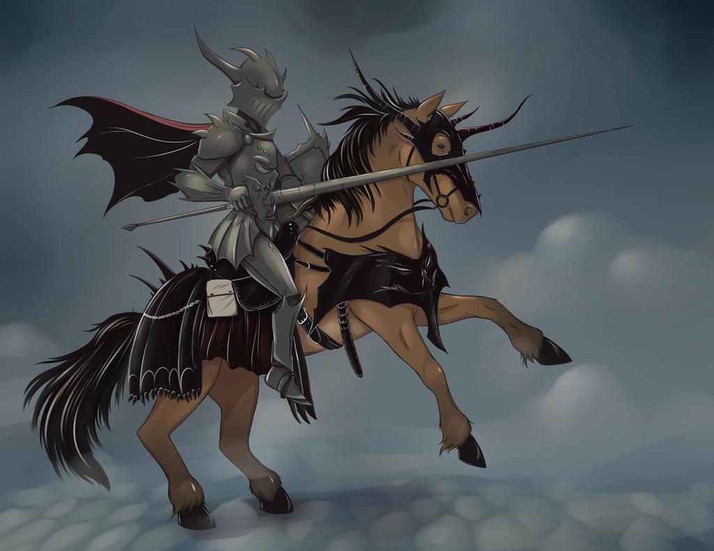 Hellknight Cavalier by RisingDragonArt