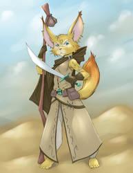 Fennec Kitsune by RisingDragonArt