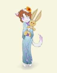 Kimono Kitty by RisingDragonArt