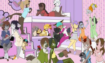 Slumber Party by RisingDragonArt