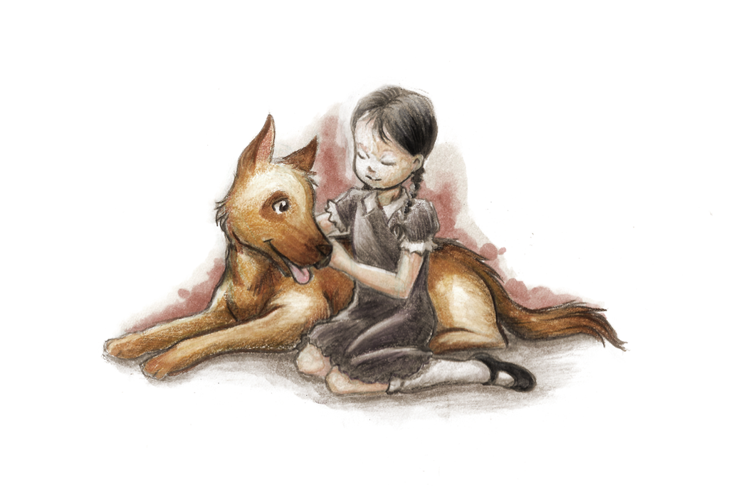 A Girl And Her Dog by RisingDragonArt
