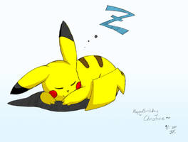 Pikachu Napping