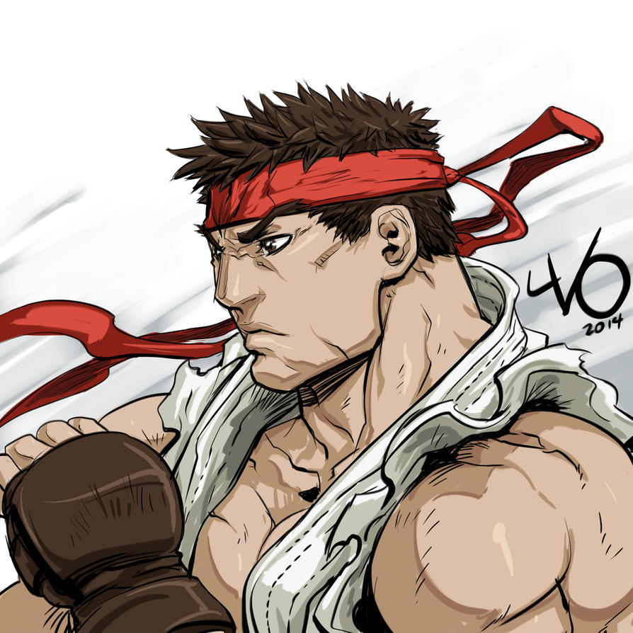 Digital Sketch Warmup 00 - Ryu by Vostalgic