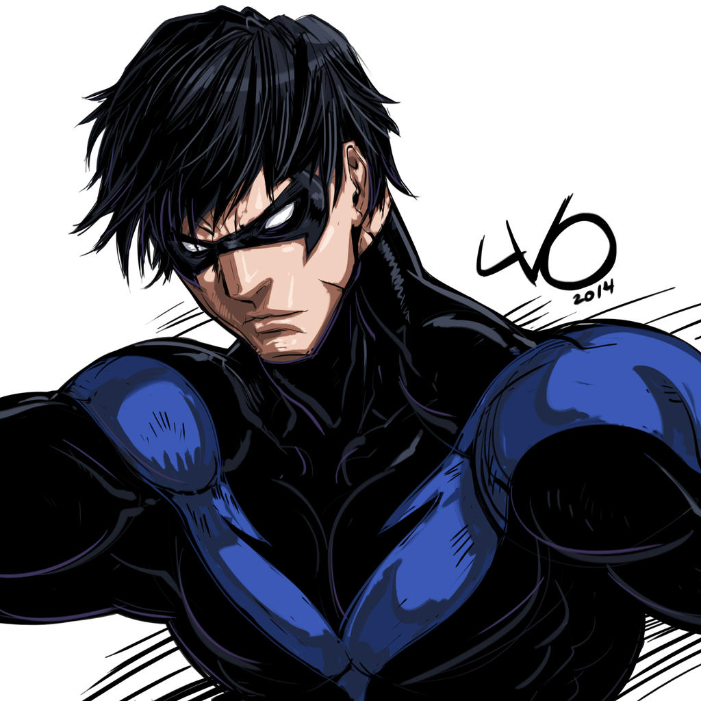 Digital Sketch Warm Up 07 -  Nightwing by Vostalgic