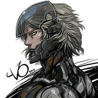 Digital Sketch Warm up -17 Raiden by Vostalgic