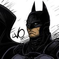 Digital Sketch Warm up 46 - Batman by Vostalgic