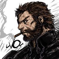 Digital Sketch Warm up 48 - Big Boss MGSV by Vostalgic