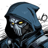 Digital Sketch Warm up 54 - Udon Taskmaster by Vostalgic