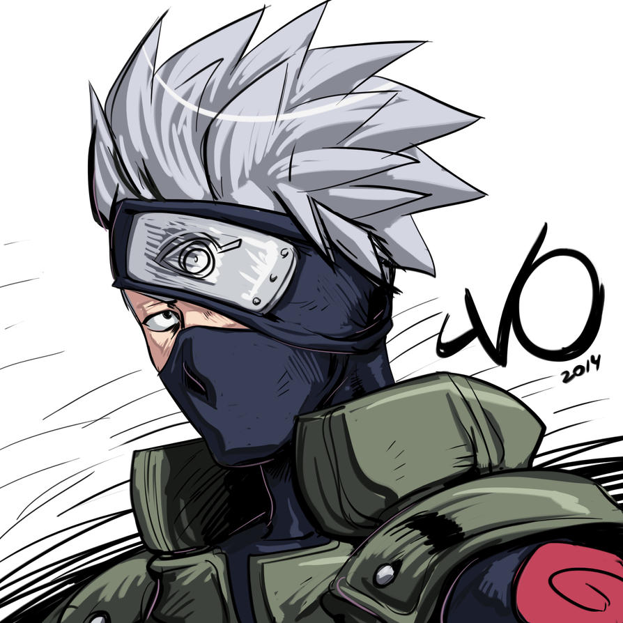 Digital Sketch Warm up 65 - Kakashi by Vostalgic