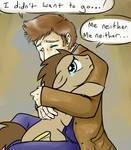 Doctor hugs the Doctor