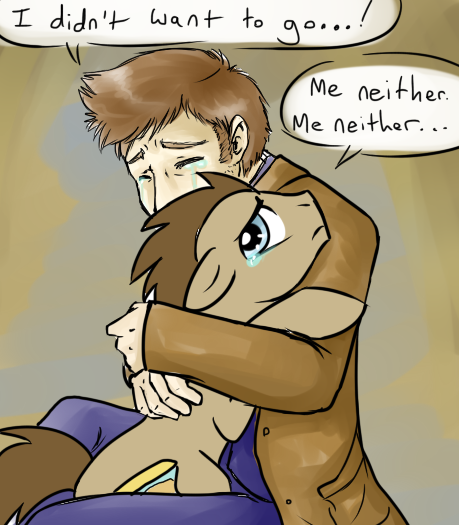 Doctor hugs the Doctor by BaldDumboRat