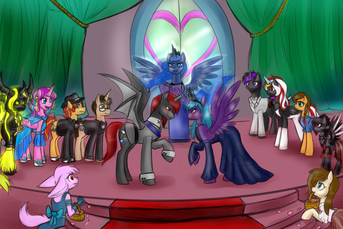 Alicorn Wedding by BaldDumboRat