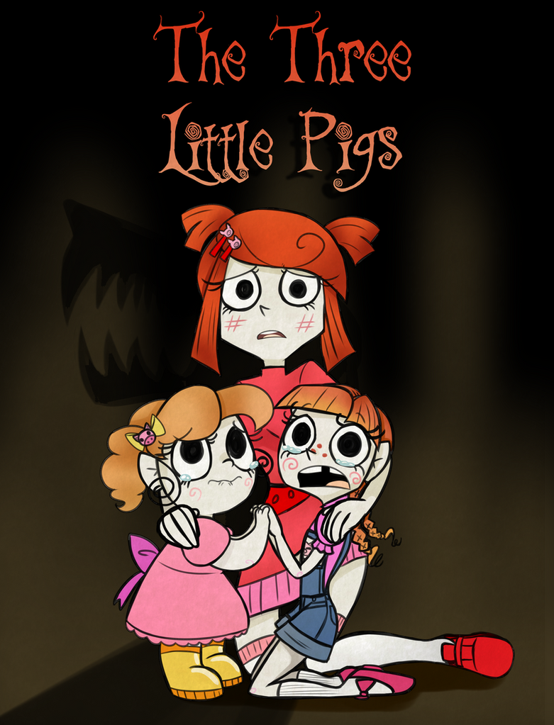 The Three Little Pigs Title Page by JitterbugJive
