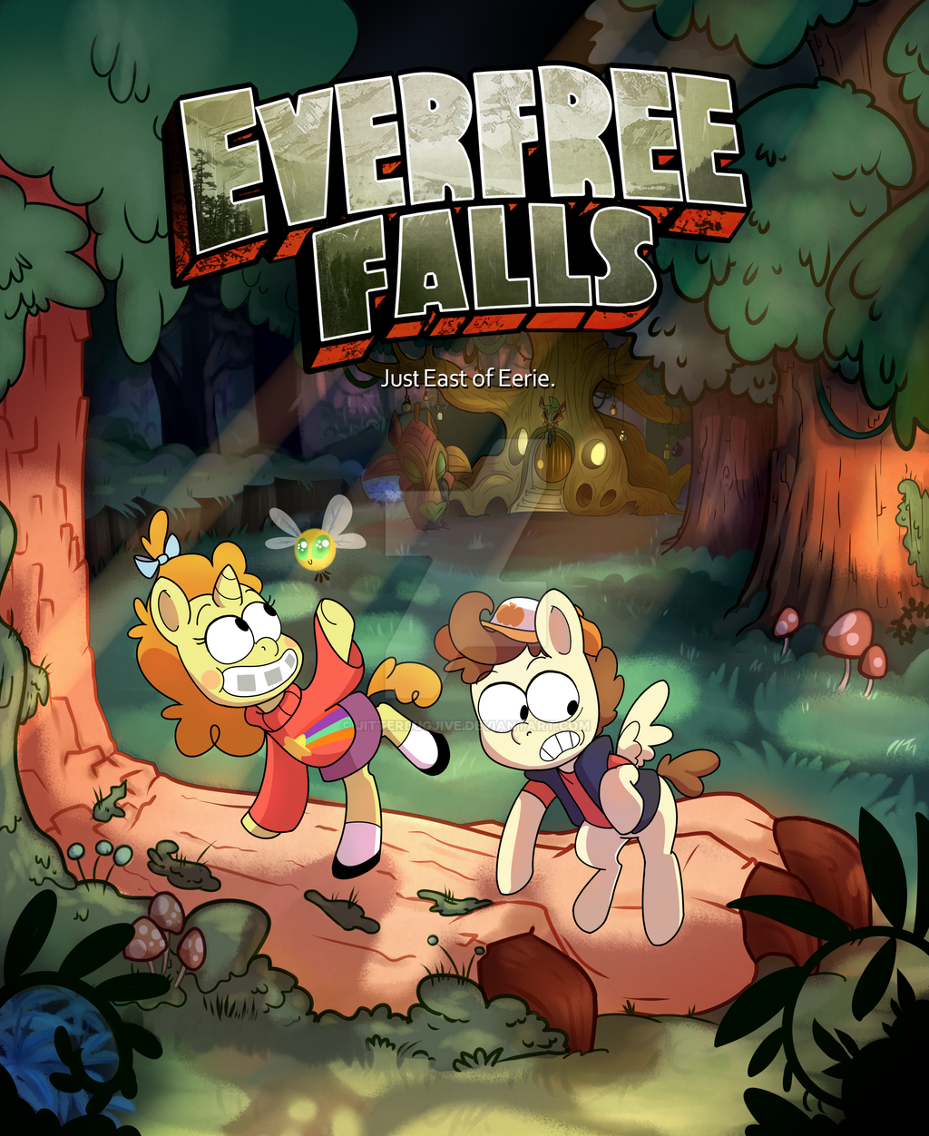 Everfree Falls by JitterbugJive