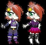 Space Punk Alternate Outfits by JitterbugJive
