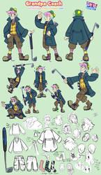 Coach the Magic Grandpa Character Sheet by JitterbugJive