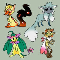 Mystery Creature Adopts Set 2 CLOSED by JitterbugJive