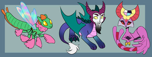 Mystery Creature Adopts Set 4 [SOLD] by JitterbugJive