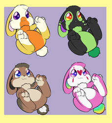 Evolving Baby Bunny Adoptables $Auction$ [3/4] by JitterbugJive