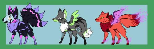 Kitsune Adoptables Set 6 [2/3] by JitterbugJive
