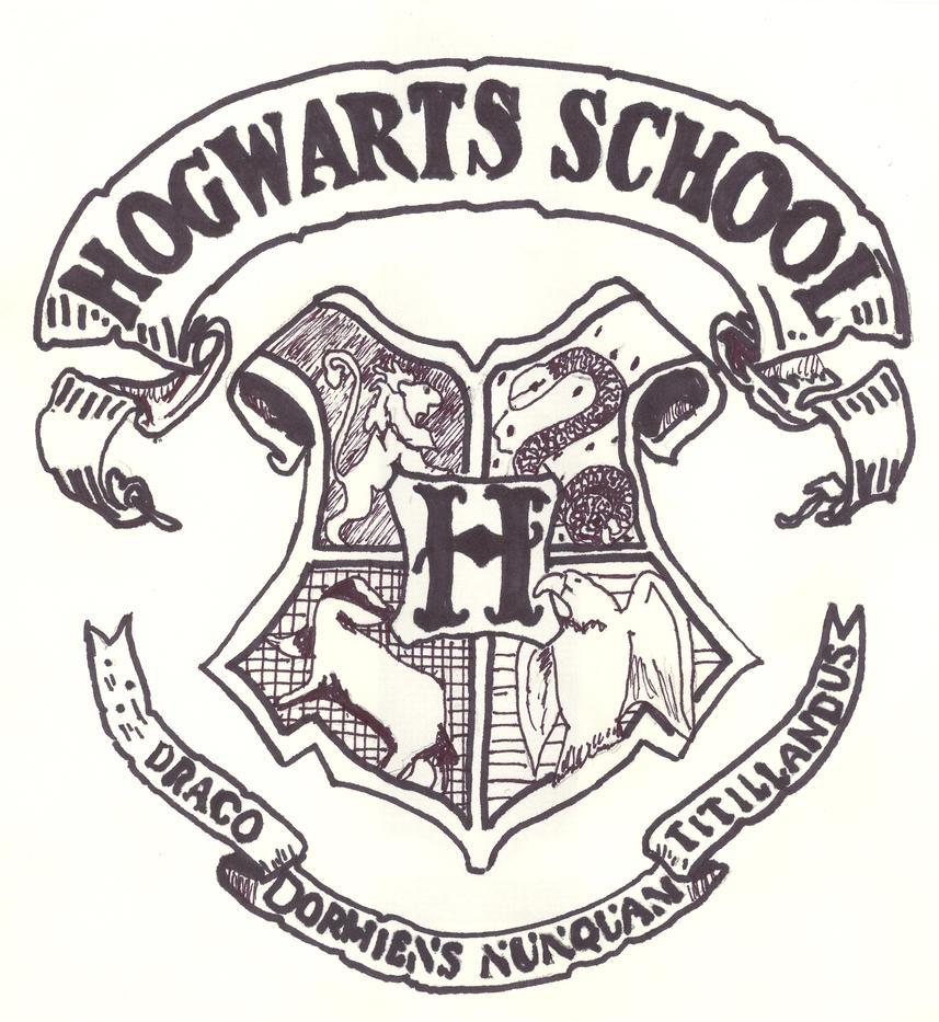 Hogwarts Crest By Korra On Deviantart Harry Potter House Coloring Pages