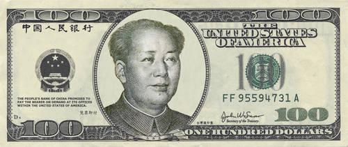 Mao on 100 Dollar Bill by philosophy-dude