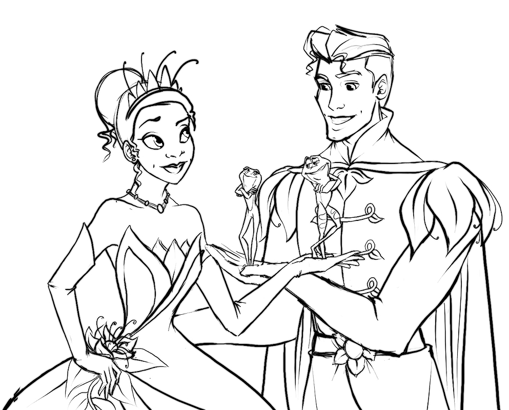 Tiana and Naveen Sketch by Ede1986 on DeviantArt