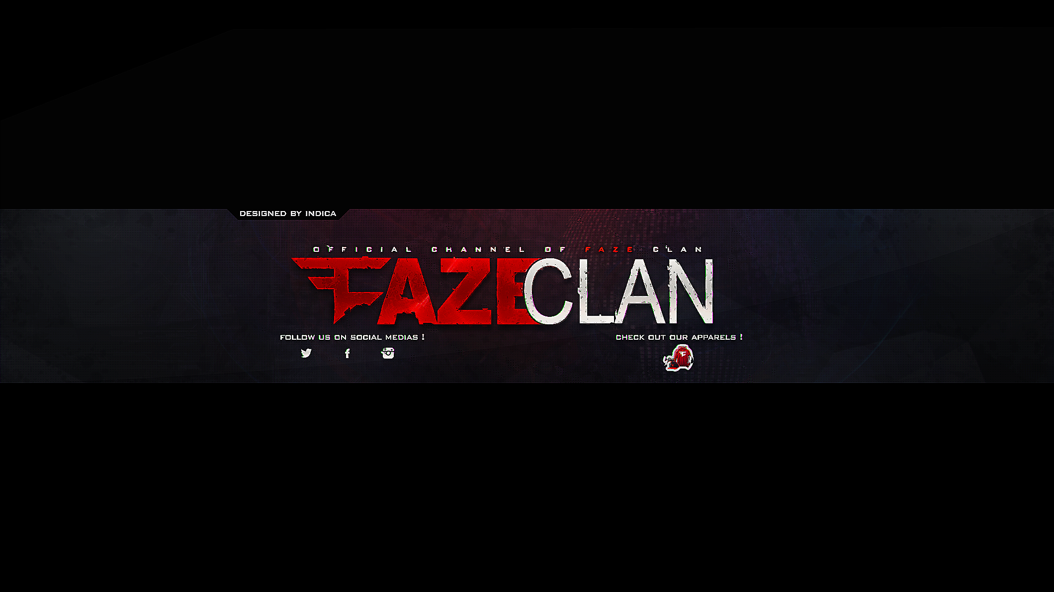 FazeClan YouTube Banner by IndicaDesigns on DeviantArt