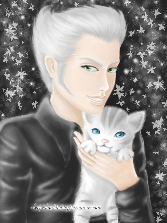 Loz and his kitten by monakadaj